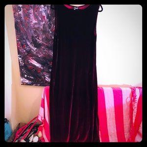 👠NEW ITEM👠VTG Velvet burgundy-red ombré dress